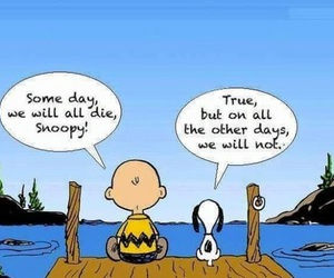snoopy, life, and quotes image
