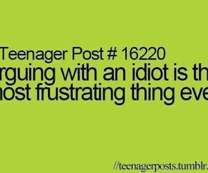 idiot, arguing, and frustrating image
