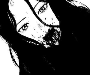 manga, anime, and blood image