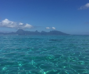 Bleu, lagon, and tahiti image