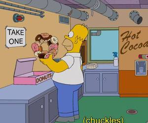 donuts, simpsons, and the simpsons image