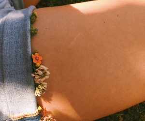 aesthetic, flowers, and forget me image