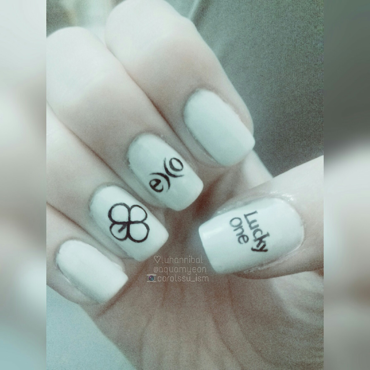 EXO Lucky One nails ♡♡ on We Heart It