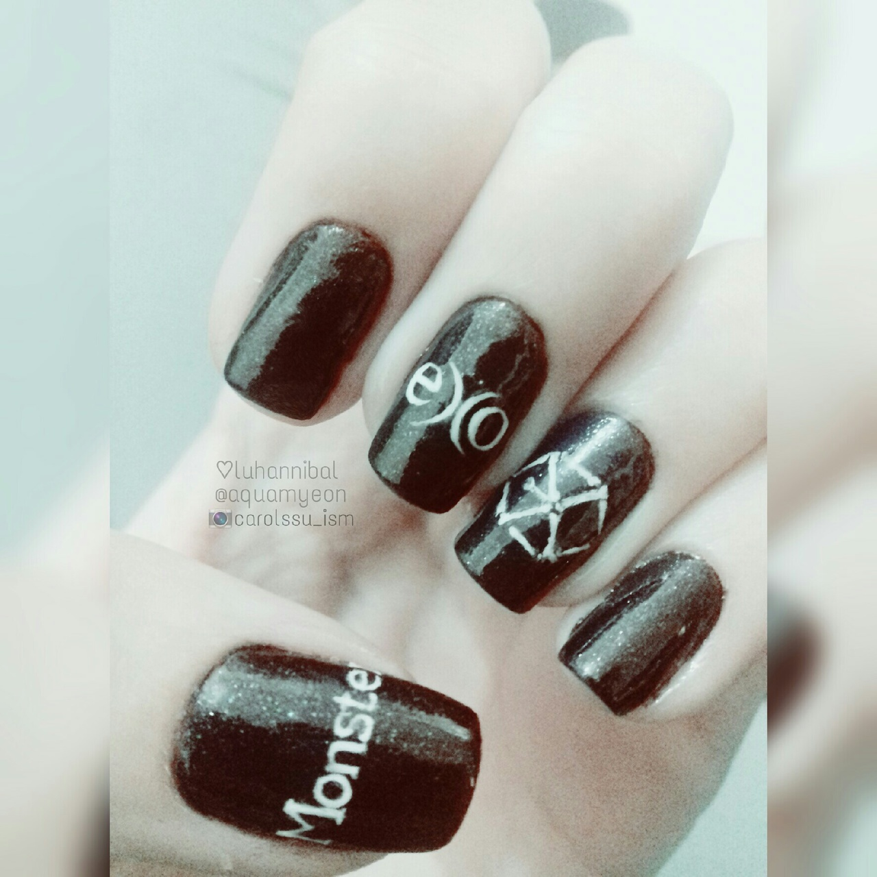 EXO Monster nails ♡♡♡ discovered by luhannibal