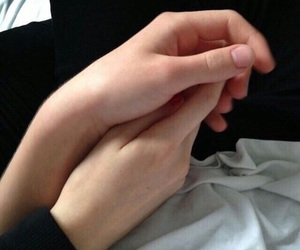 couple, holding hands, and love image