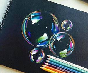 art, bubbles, and drawing image