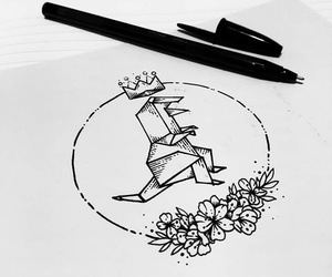 draw, flowers, and king image
