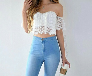jeans outfit white image