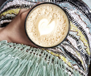 coffee, heart, and latte art image