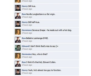 harry potter, mean girls, and facebook image