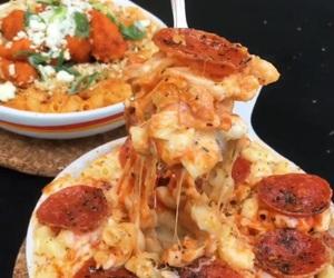 yummy, pepperoni, and mac n cheese image