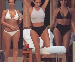 bikini, gorgeous, and kim kardashian image