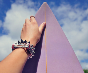 nails, purple, and surf image