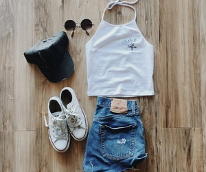 coffee, converse, and outfit image