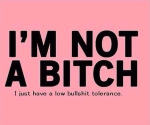 bitch, bullshit, and pink image