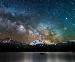california, milky way, and night image