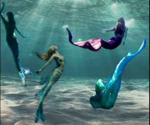 mermaid, fantasy, and water image
