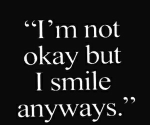 smile, sad, and quote image