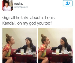 Harry Styles, funny, and kendall jenner image