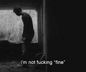 sad, depressed, and fine image