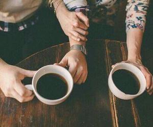 love, coffee, and couple image