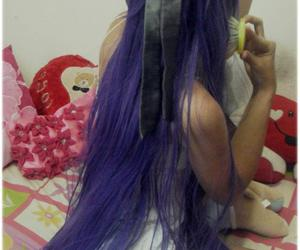 cosplay, girl, and purple hair image