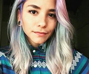 bluehair, girl, and bobhair image