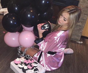 balloons, birthday, and blonde image