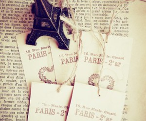 cards, eiffel tower, and hearts image