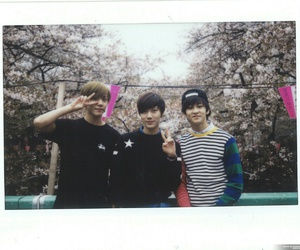 mark, ten, and hansol image