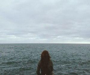 girl, indie, and ocean image