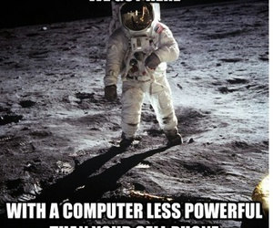 astronaut, computer, and funny image