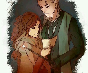 dramione, harry potter, and malfoy image