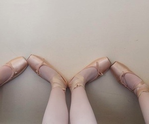 ballet, first, and point shoes image