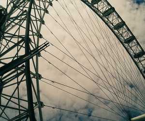london, london eye, and places image