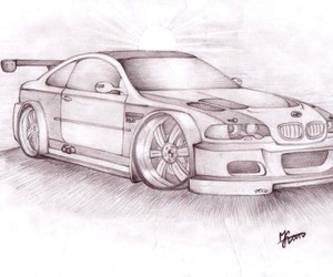 bmw, car, and drawing image