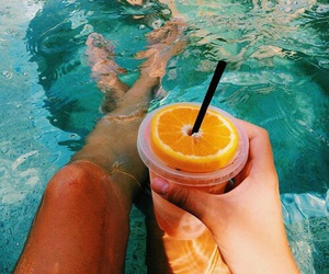 summer, drink, and orange image