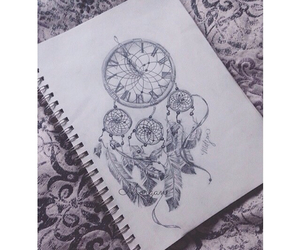 drawing and dream catcher image