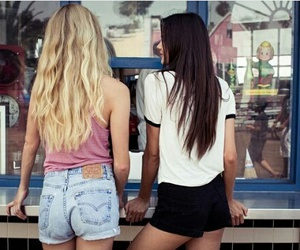 friend, girls, and teen image