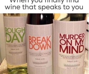 break down, funny, and wine image