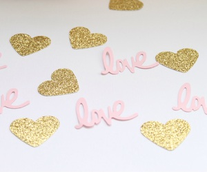 background, gold, and confetti image