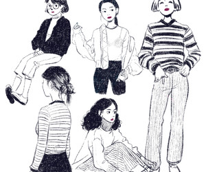 art, draw, and outfit image