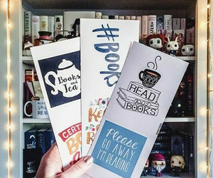 bibliophile, bookish, and bookmarks image