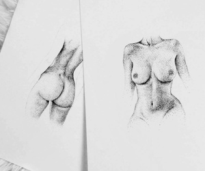 art, drawing, and naked image