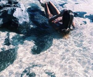 beach, holiday, and girl image