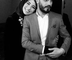 couple, hijab, and islamic image