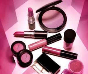 mac, pink, and makeup image