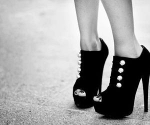 black and white, pretty, and shoes image
