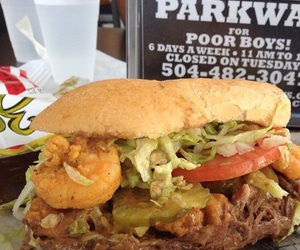 food, new orleans, and poboy image