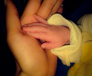 baby, hand, and love image